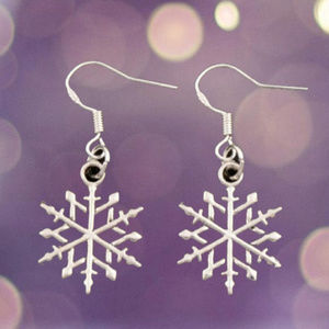 Jewelry - Snowflake Earrings Silver Dangle Holidays Gifts